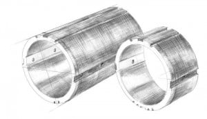 Kemel stern tube seal
